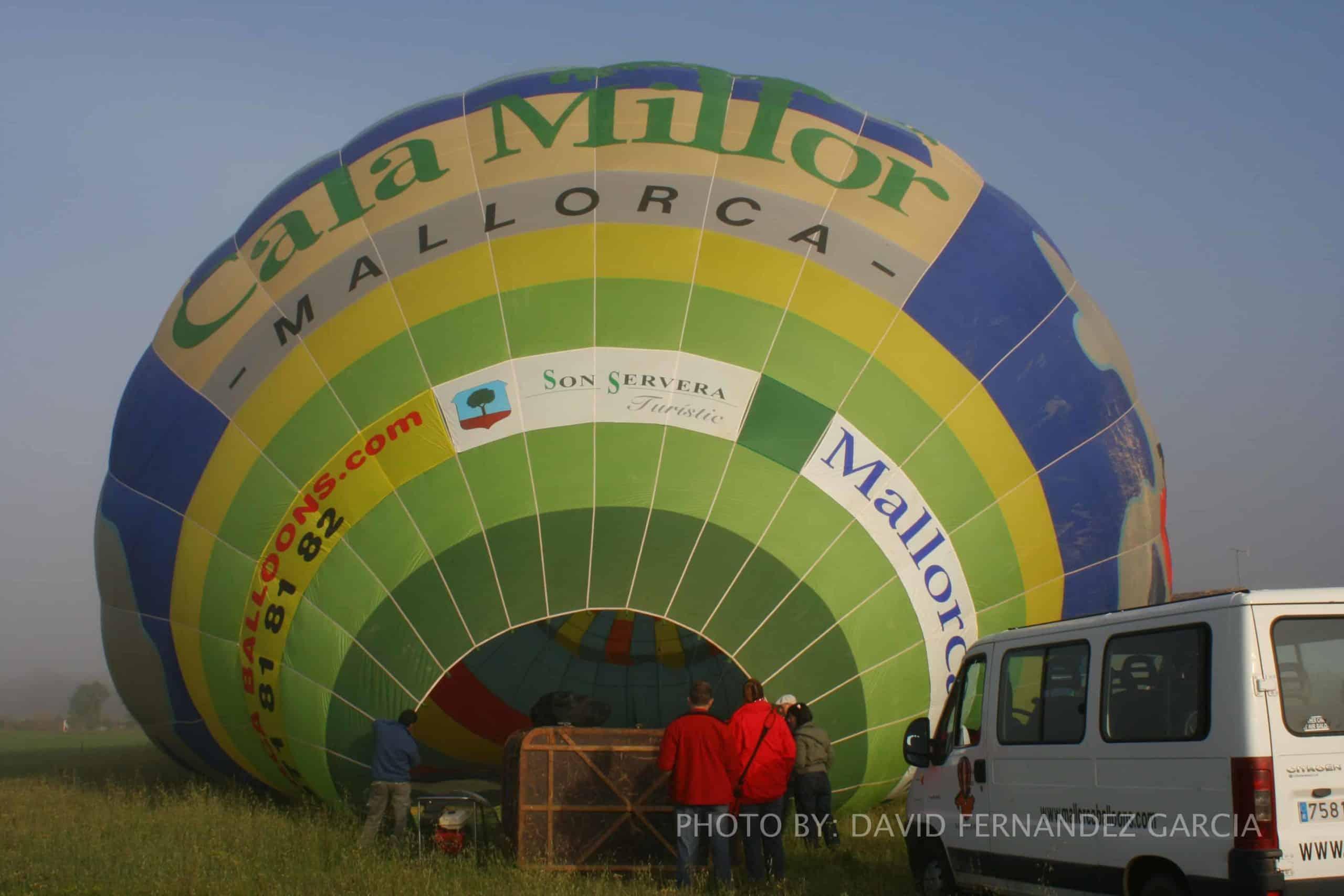 Heißluftballon rüsten auf Mallorca