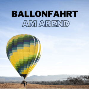 Ballonfahrt auf Mallorca am Abend